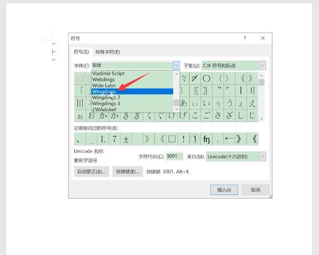 怎么在word方框里打钩(3)