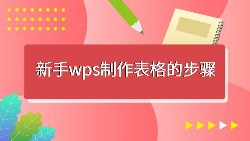 新手wps制作表格的步骤