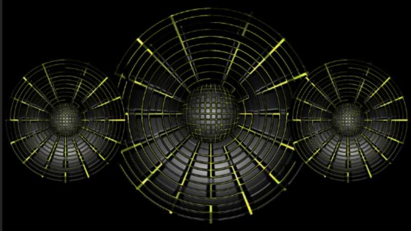 ps用极坐标制作球形蜘蛛网喇叭