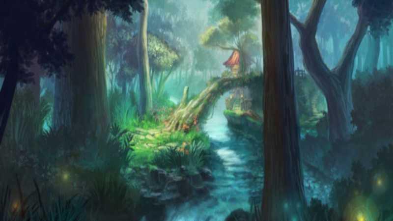 PS鼠绘夜色中的梦幻森林