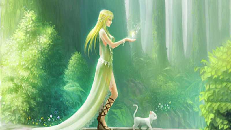 PS鼠绘梦幻森林漫步的魔法师