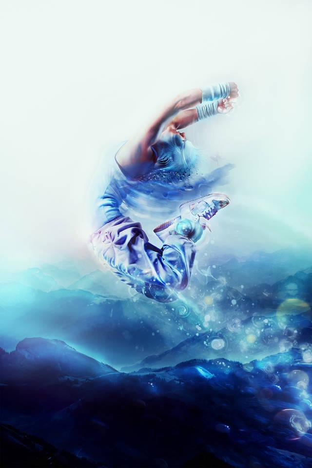 ps多张图片合成一张舞者图片