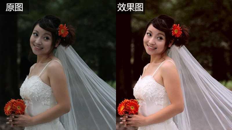 Photoshop使用LAB通道给婚纱照片调亮