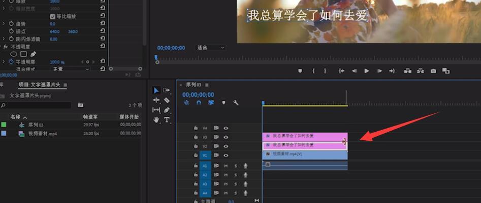 pr怎么制作ktv字幕(3)