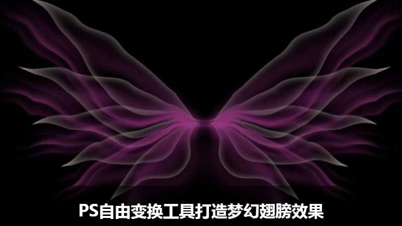 PS自由变换工具打造梦幻翅膀效果