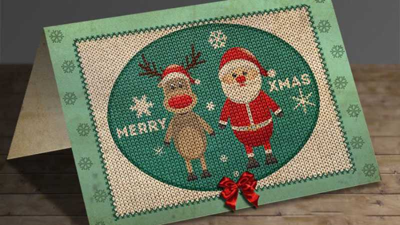 ps cs6设计针织圣诞贺卡图片