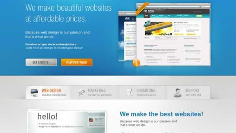 Photoshop设计漂亮的网页模板
