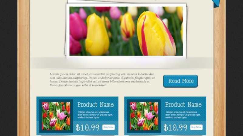 Photoshop设计国外木纹风格的网页模板