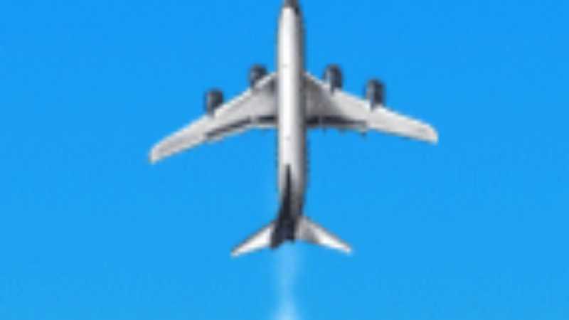 Photoshop制作飞机拉出白烟GIF动画效果