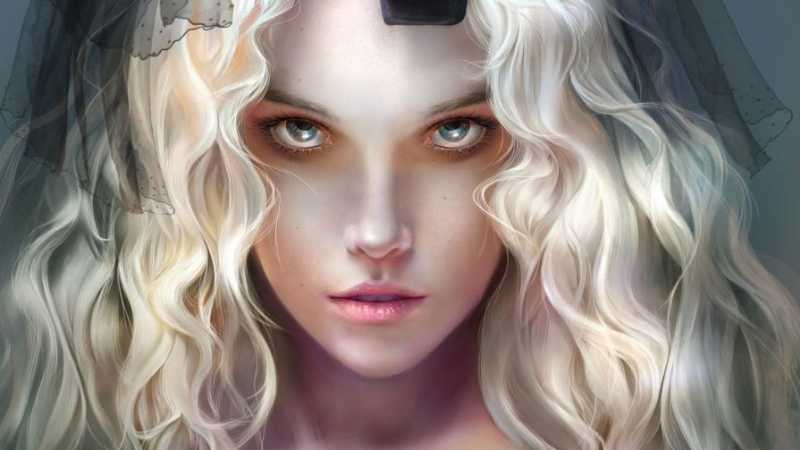 PS鼠绘漂亮的欧美女孩
