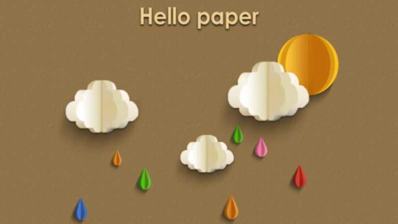 PS绘制剪纸效果天气图标