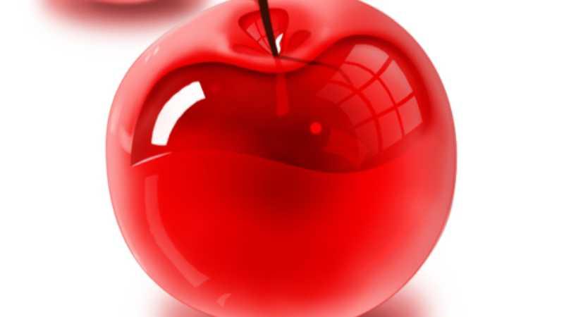 PS鼠绘晶莹剔透的卡通樱桃
