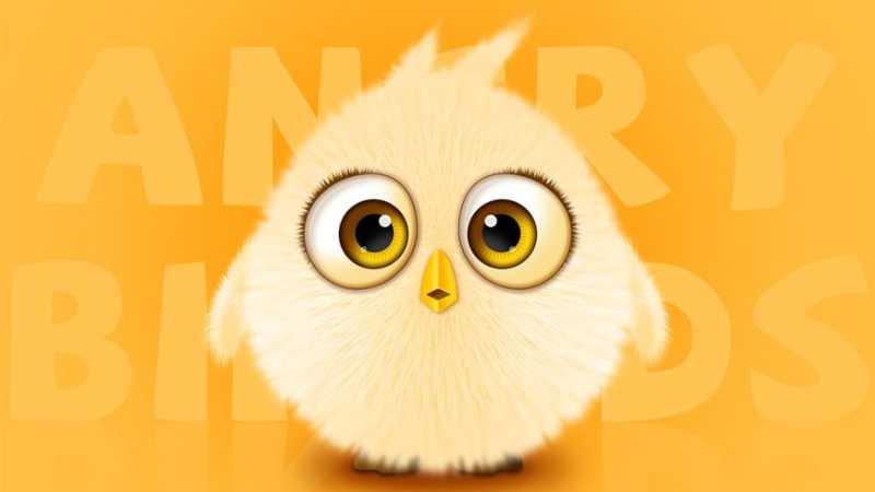 AI+PS绘制毛茸茸的愤怒小鸟