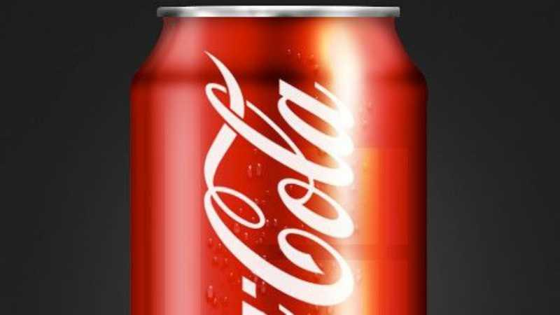 PS鼠绘质感可乐罐子