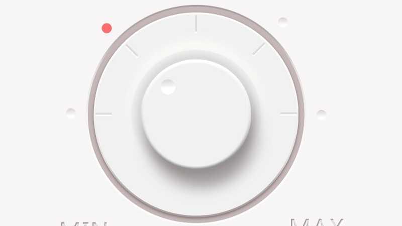 PS鼠绘超简洁音乐控制旋钮