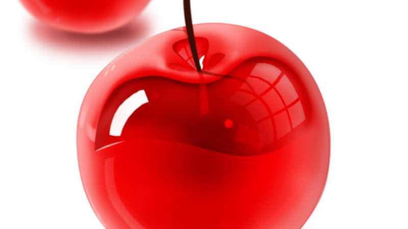 PS鼠绘晶莹剔透的樱桃