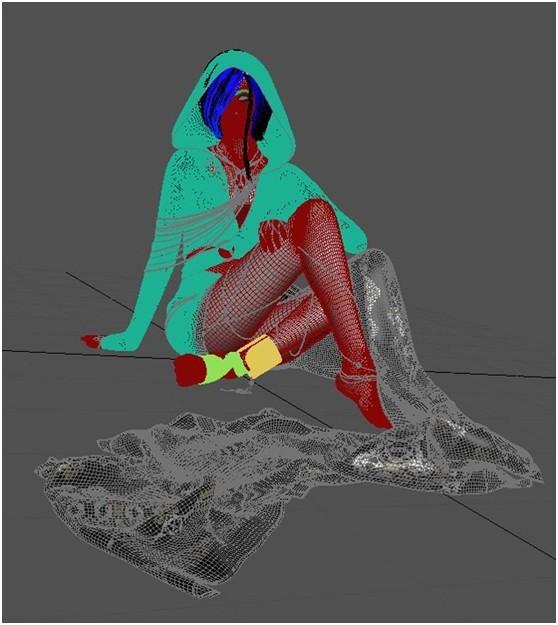 3DSMAX和ZBRUSH打造神秘少女(16)