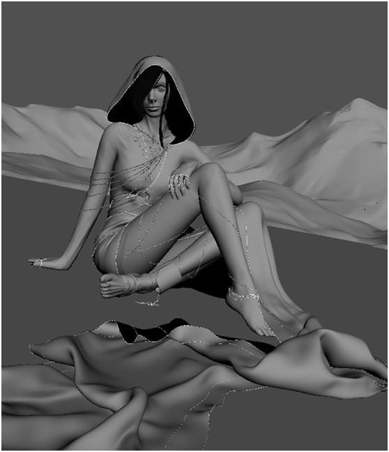 3DSMAX和ZBRUSH打造神秘少女(17)