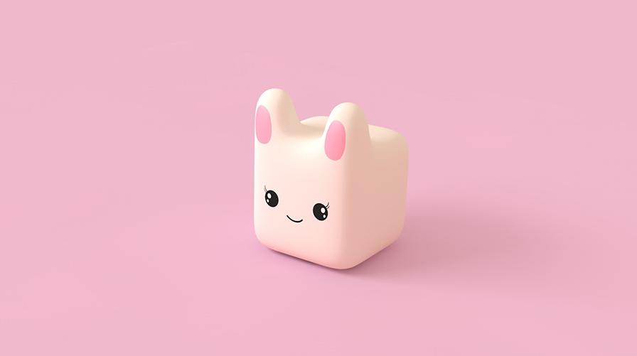 待改-C4D制作萌萌哒小兔子建模教程