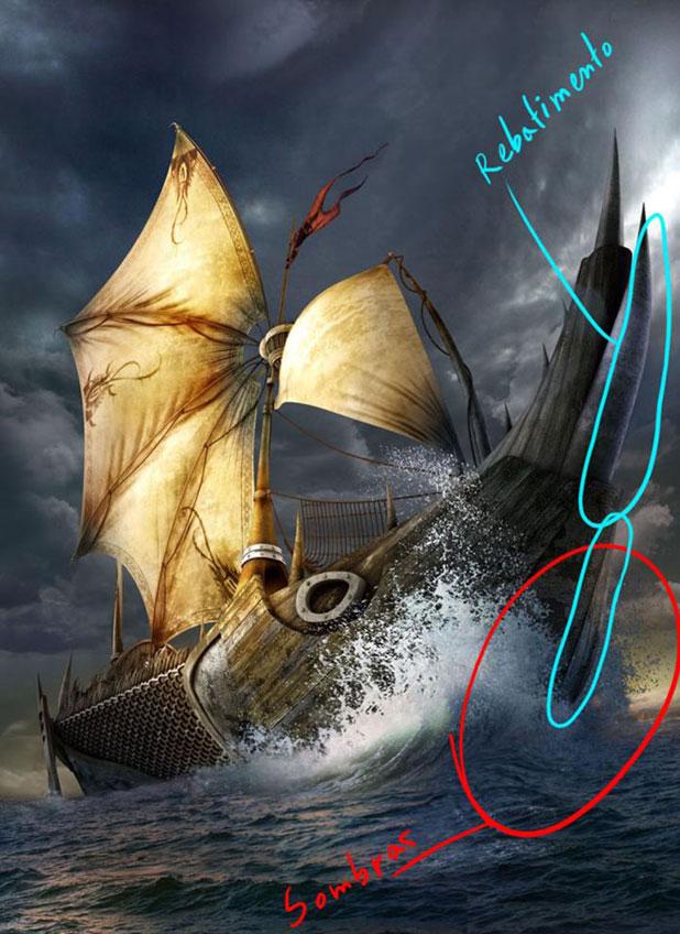 3DSMAX制作迎风破浪船舰场景(41)