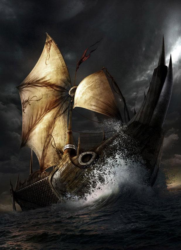 3DSMAX制作迎风破浪船舰场景