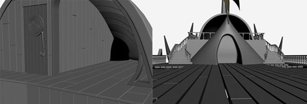 3DSMAX制作迎风破浪船舰场景(6)