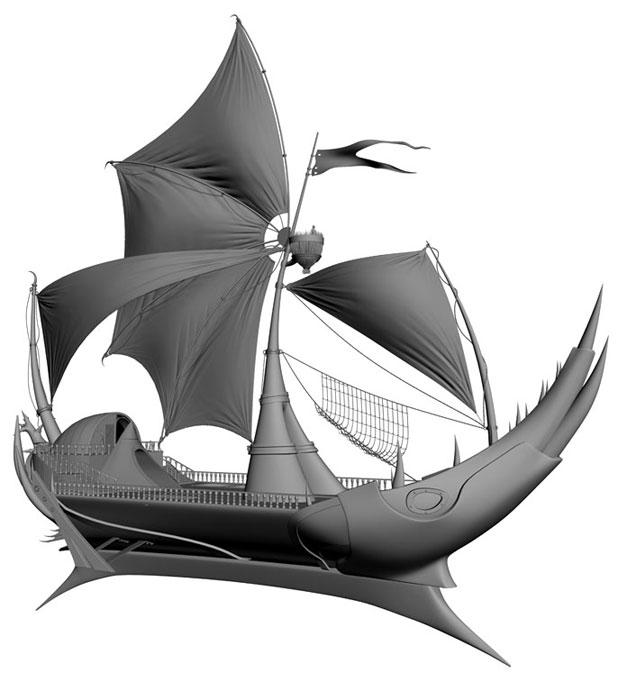 3DSMAX制作迎风破浪船舰场景(9)