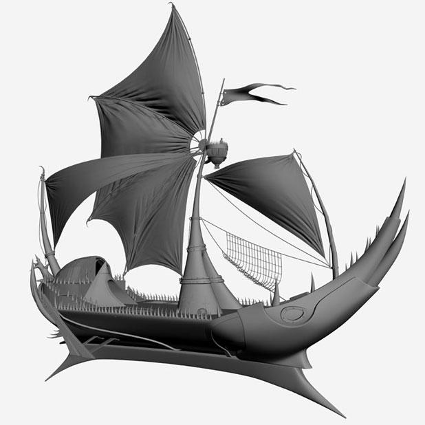 3DSMAX制作迎风破浪船舰场景(11)
