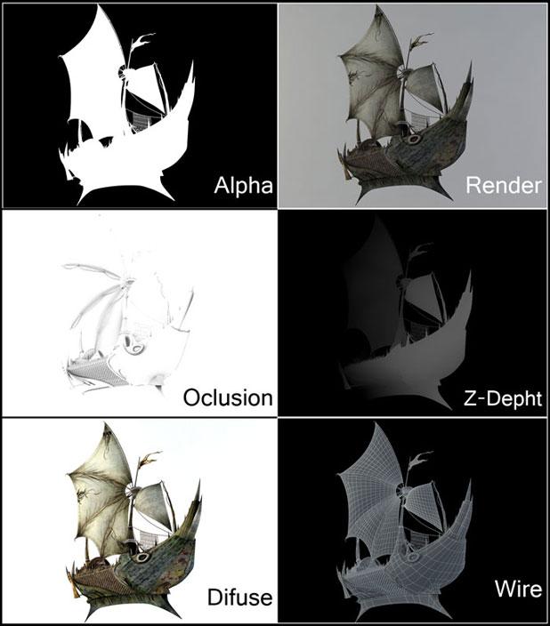 3DSMAX制作迎风破浪船舰场景(25)