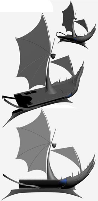 3DSMAX制作迎风破浪船舰场景(4)