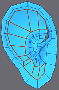 3ds Max耳朵建模教程(8)