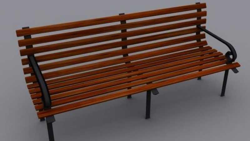 3DSMAX公园长椅建模教程