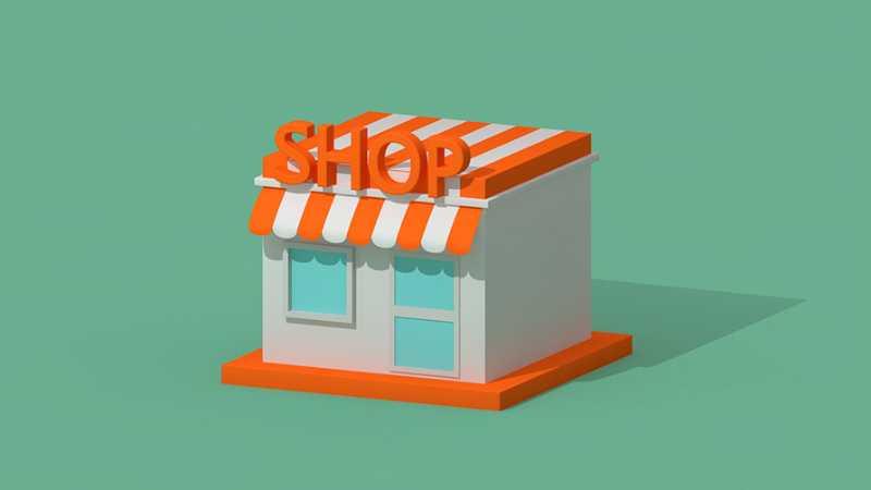 C4D制作卡通风格的便利店建模教程