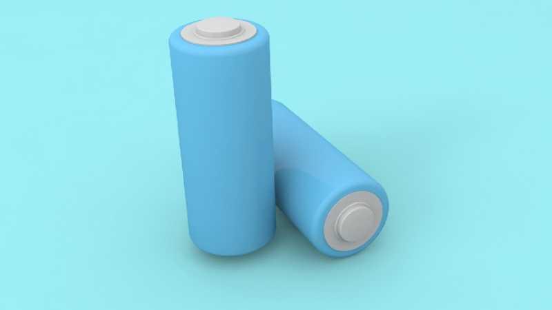 C4D绘制卡通主题的蓝色电池教程