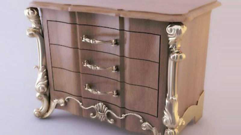 3DS打造室内欧式雕花柜子