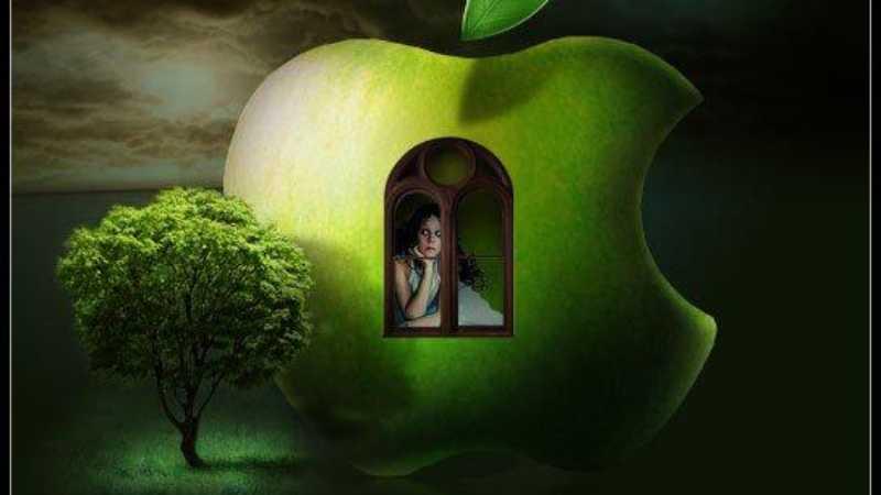Photoshop创意合成苹果标志经典海报