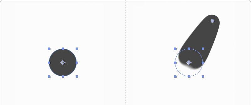 AE制作不规则运动的小圆点