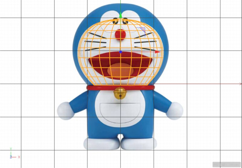C4D制作机器猫哆啦A梦建模渲染(14)