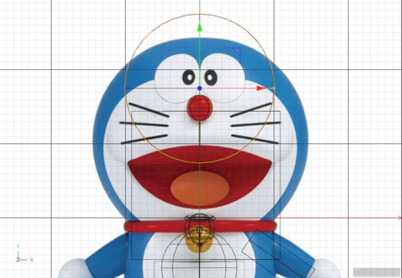 C4D制作机器猫哆啦A梦建模渲染(56)
