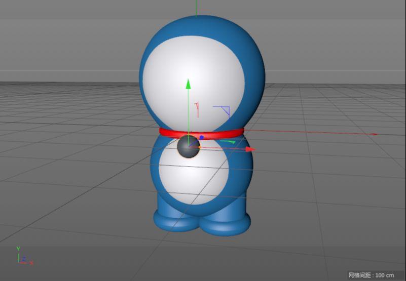 C4D制作机器猫哆啦A梦建模渲染(36)