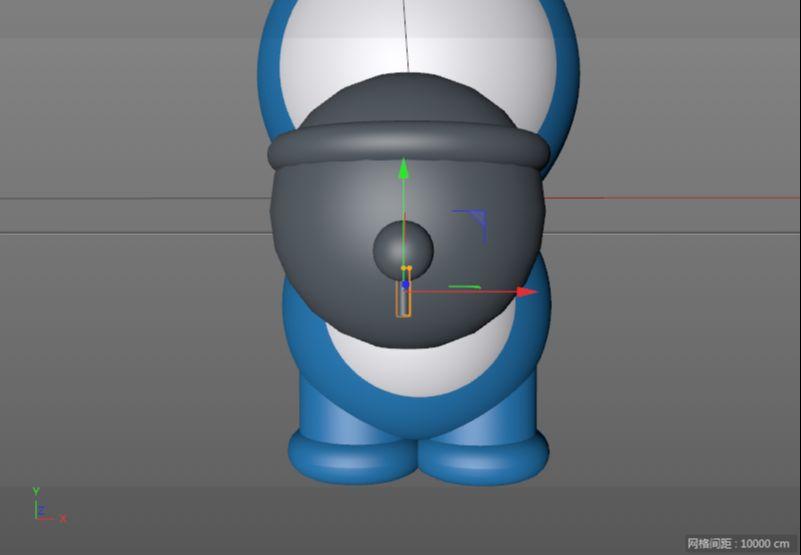 C4D制作机器猫哆啦A梦建模渲染(38)