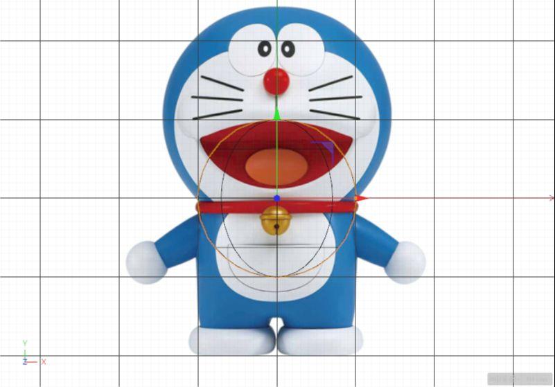 C4D制作机器猫哆啦A梦建模渲染(13)