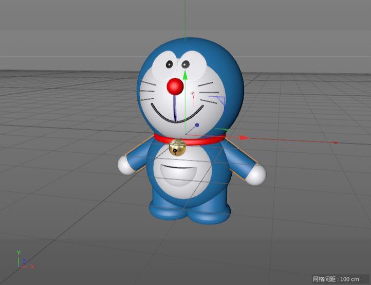 C4D制作机器猫哆啦A梦建模渲染(82)