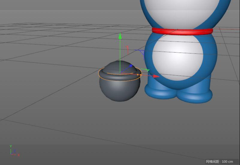 C4D制作机器猫哆啦A梦建模渲染(37)