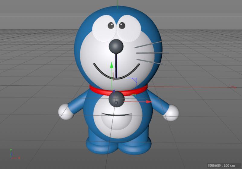 C4D制作机器猫哆啦A梦建模渲染(79)