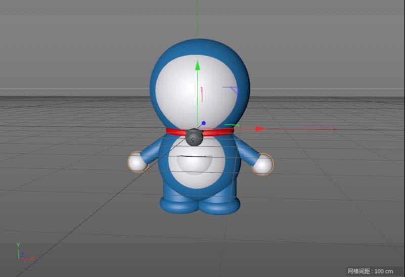 C4D制作机器猫哆啦A梦建模渲染(54)