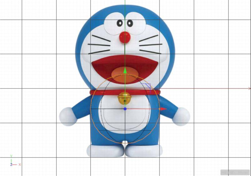 C4D制作机器猫哆啦A梦建模渲染(25)