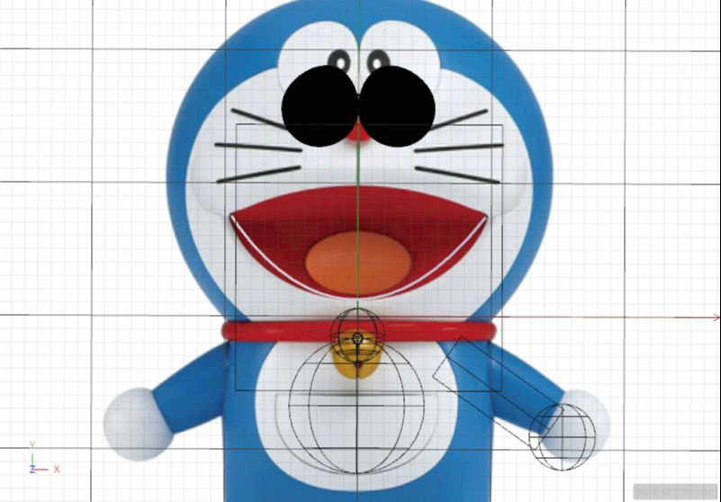 C4D制作机器猫哆啦A梦建模渲染(73)