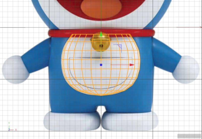 C4D制作机器猫哆啦A梦建模渲染(27)