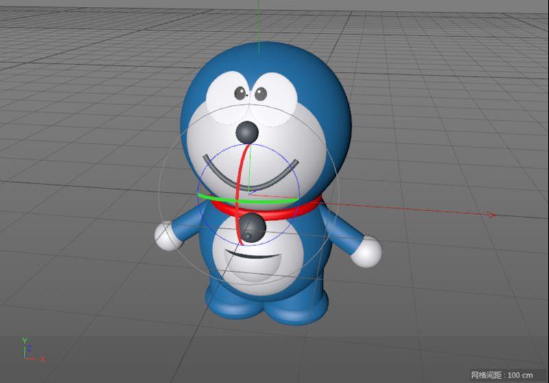 C4D制作机器猫哆啦A梦建模渲染(77)